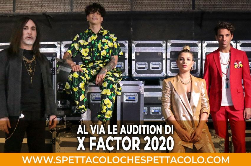 Al via le Audition di X Factor 2020