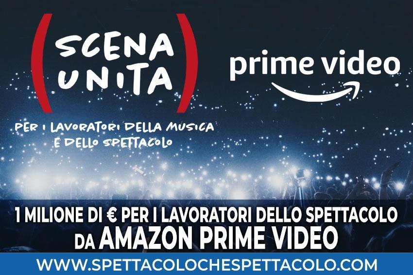 Amazon Prime Video: un milione di euro per i lavoratori dello spettacolo italiani